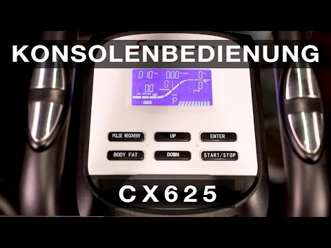 Sportstech CX625/CX640 - Konsolenbedienung